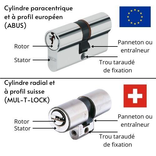 schéma cylindre rotor stator panneton entraîneur radial paracentrique